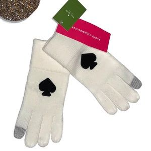 Kate Spade Touch Technology Gloves White NWT